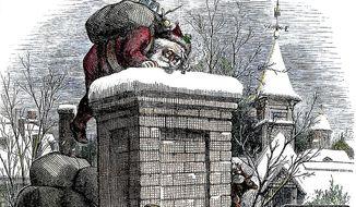 A Christmas drawing by Thomas Nast