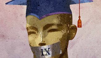 Title IX and Free Speech Illustration by Greg Groesch/The Washington Times