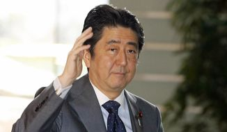 Japanese Prime Minister Shinzo Abe (Kyodo News via Associated Press/File)