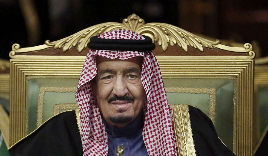 FILE - In this Wednesday, Dec. 9, 2015 file photo, King Salman of Saudi Arabia opens the 36th session of the Gulf Cooperation Council Summit in Riyadh. King Salman outlined his foreign and domestic policy priorities for the coming year on Wednesday, Dec. 23, 2015, affirming that security and economic development would remain top concerns for his country. (AP Photo/Khalid Mohammed, File)