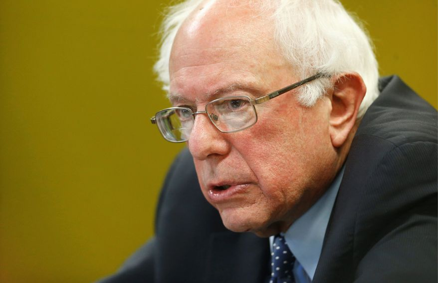 """Democratic presidential candidate Sen. Bernard Sanders was """"disturbed by reports that the government may commence raids to deport families who have fled here to escape violence in Central America."""" (Associated Press)"""