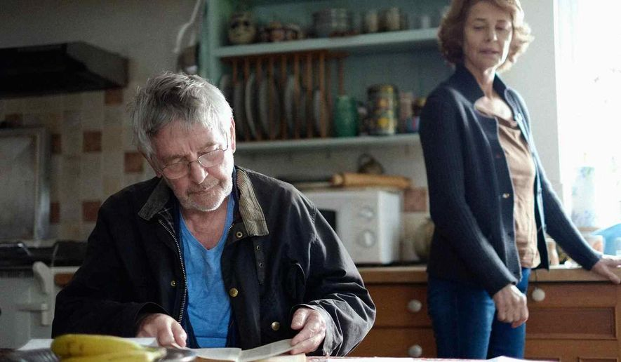 """This photo provided by Agatha A. Nitecka shows Tom Courtenay, left, as Geoff and Charlotte Rampling as Kate in Andrew Haigh's film, """"45 Years,"""" a Sundance Selects Release. (Courtesy of Agatha A. Nitecka via AP)"""