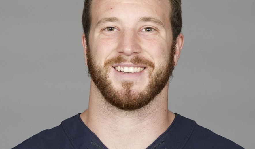 File-This May 2015 file photo shows Rick Lovato then of the Chicago Bears NFL football team. In the span of a few days, Lovato went from sub shop worker to playing in the NFL. The Green Bay Packers are working him in this week as the new long snapper after veteran Brett Goode suffered a season-ending knee injury. (AP Photo/File)