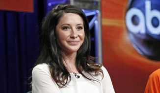 """In this July 27, 2012, file photo, Bristol Palin attends the """"Dancing with the Stars: All Stars"""" panel at the Disney ABC Television Critics Association session in Beverly Hills, Calif. Palin is a mother for the second time. (Photo by Todd Williamson/Invision/AP, FIle)"""