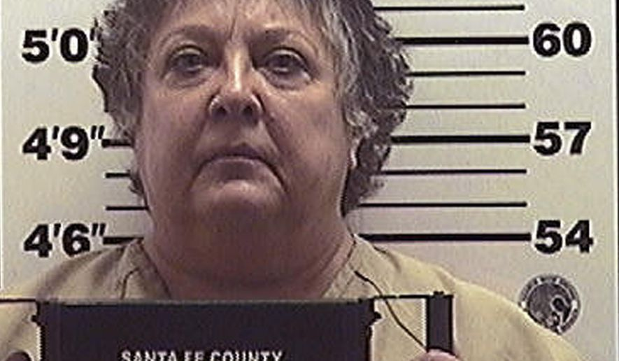 FILE - This Dec. 18, 2015 file photo provided by the Santa Fe County Jail shows former New Mexico Secretary of State Dianna Duran. Duran checked into a county jail to serve a 30-day sentence as partial punishment for siphoning money from her election account to fuel a gambling addiction. (Santa Fe County Jail via AP, File)