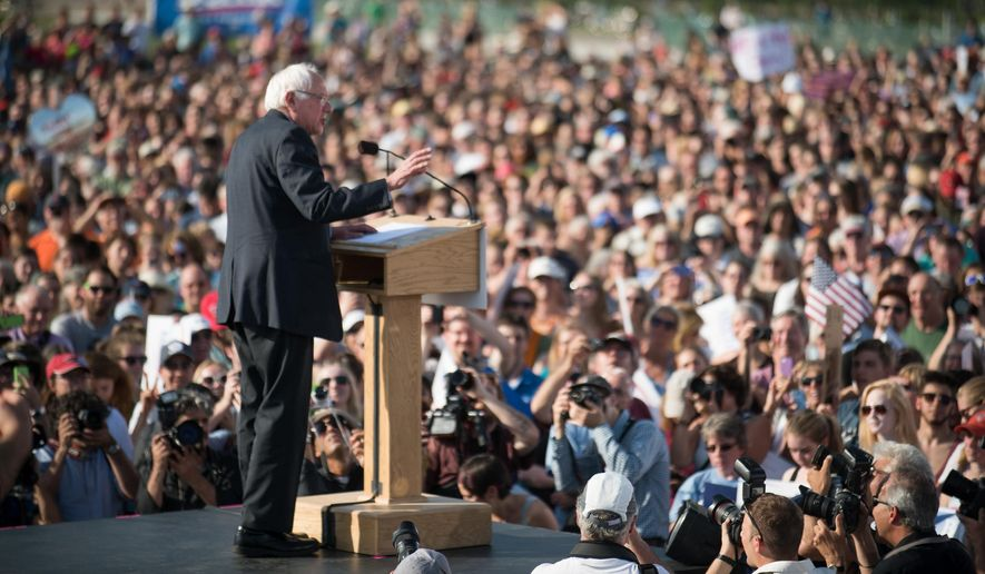 In a surprise to the Democratic Party, which thought Hillary Clinton would be the uncontested presidential nominee, Sen. Bernard Sanders drew voters in droves to rallies as he preached leadership from the left flank. (Associated Press/File)
