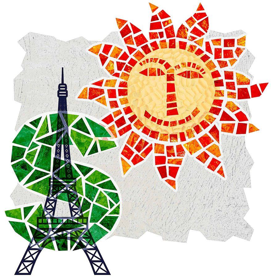 Paris Climate Confab Costs Illustration by Greg Groesch/The Washington Times