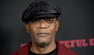 "Samuel L. Jackson arrives at the Los Angeles premiere of ""The Hateful Eight"" at the Cinerama Dome on Monday, Dec. 7, 2015. (Photo by Chris Pizzello/Invision/AP) ** FILE **"