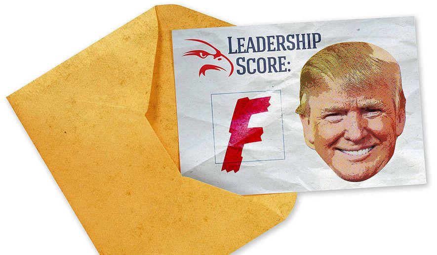 Trump Leadership Report Card Illustration by Greg Groesch/The Washington Times