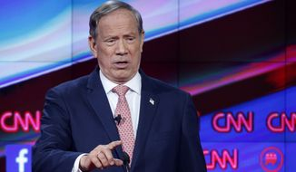George Pataki makes a point during the CNN Republican presidential debate at the Venetian Hotel & Casino on Dec. 15, 2015, in Las Vegas. (Associated Press)