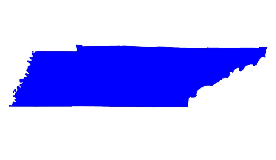 Tennessee state map.
