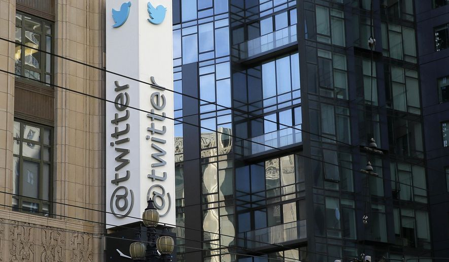 FILE - This Dec. 16, 2014, file photo shows Twitter headquarters in San Francisco. Twitter has revised its rules of conduct unveiled Tuesday, Dec. 29, 2015, to emphasize that it prohibits violent threats and abusive behavior by users, promising a tough stance at a time when critics are calling for the online service to adopt a harder line against extremists. (AP Photo/Eric Risberg, File)