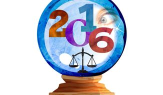 Hillary for Prosecution Crystal Ball Illustration by Greg Groesch/The Washington Times