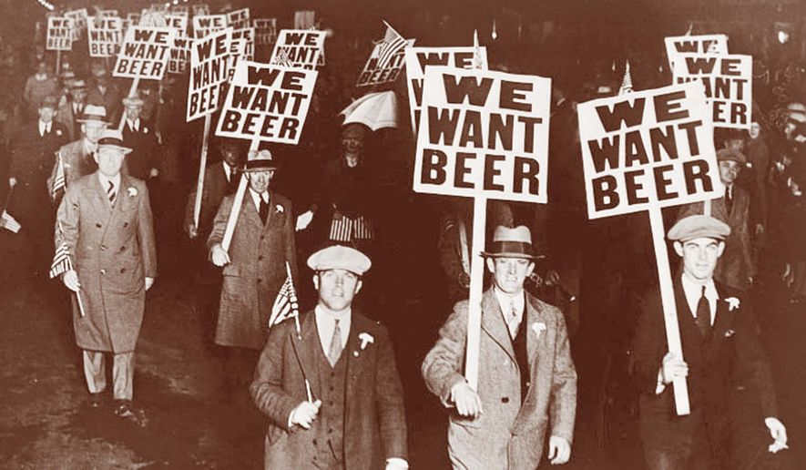 Historic Photo of a Protest of the 18th Amendment also known as Prohibition