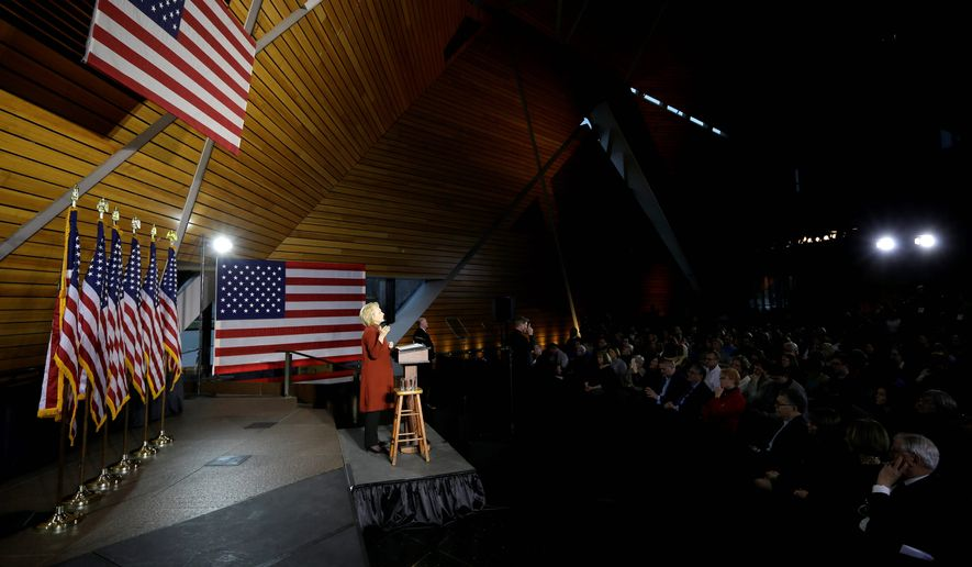 Presidential candidate Hillary Clinton outlined her plan to defeat the Islamic State and combat homegrown radicalization during a speech at the University of Minnesota, highlighting efforts to build trust between the Muslim community and law enforcement. (Associated Press)