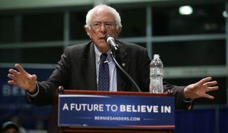 Democratic presidential candidate, Sen. Bernie Sanders, I-Vt., speaks during a town hall meeting, Wednesday, Dec. 30, 2015, in Ottumwa, Iowa. (AP Photo/Charlie Neibergall)