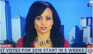 Katrina Pierson, national spokeswoman for Donald Trump's presidential campaign came under fire for wearing a bullet necklace during an appearance on CNN. (Image: Screen Grab from YouTube) ** FILE **