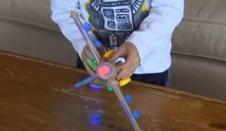 Amazon customers are demanding answers after a children's WolVol toy plane that's advertised to make jet noises plays an Islamic prayer instead. (KING5)