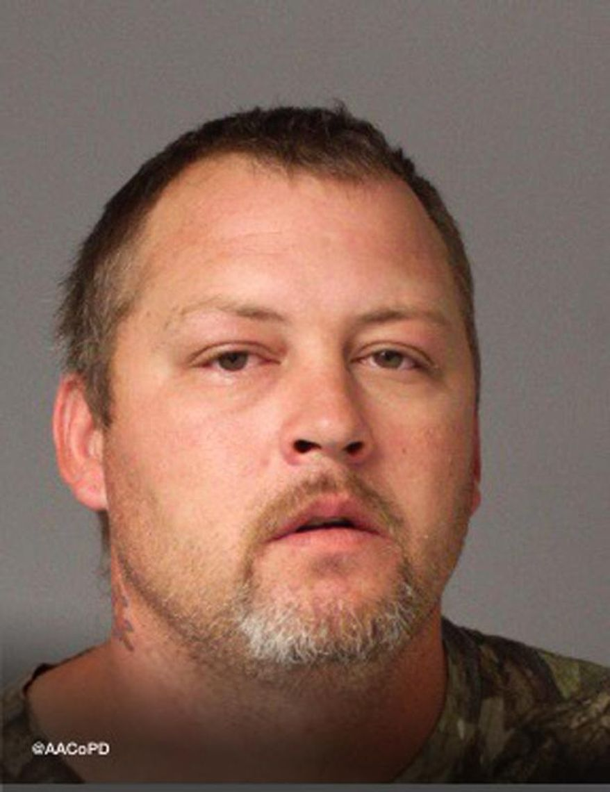 FILE - This file photo provided by Anne Arundel County, Md., Police Department shows Ethan Harmon. The Capital reports that 36-year-old Harmon pleaded guilty to five cockfighting-related charges Monday, Dec. 28, 2015, and was sentenced to two years with credit for time served. (Anne Arundel County, Md., Police Department via AP, File)