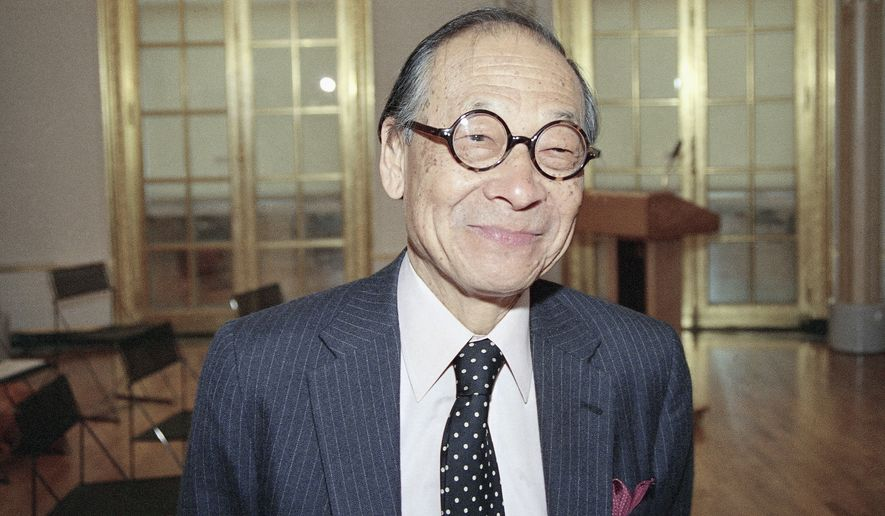 Architect I.M. Pei poses for a photo in May 1988. (Associated Press)
