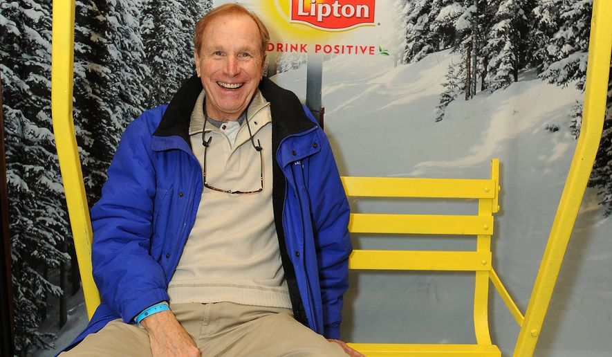 Actor Wayne Rogers takes a tea-break at the Lipton Uplift Lounge amidst the hustle and bustle of Sundance in Park City, Utah, on Jan. 19, 2013. (Associated Press)