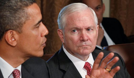 "In his memoir, Robert Gates (right) wrote that President Obama did not always live up to budget agreements and suspected top brass of conspiracies against the commander in chief. Mr. Obama once retorted to the command by saying ""that's an order,"" which Mr. Gates found unprecedented. (Associated Press)"