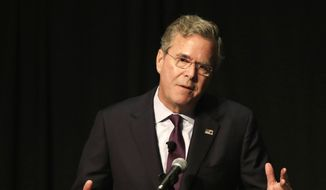 In this Dec. 28, 2015, file photo, Republican presidential candidate, former Florida Gov. Jeb Bush speaks in West Palm Beach, Fla. Despite a year of campaigning, 10 televised debates and millions of dollars in advertising, most people in even the earliest voting presidential voting states are just now beginning to focus on their choices in the 2016 campaign. (AP Photo/Terry Renna, File)