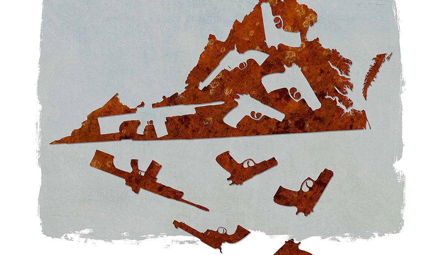 In-state, Out-of-State Virginia Guns Illustration by Greg Groesch/The Washington Times