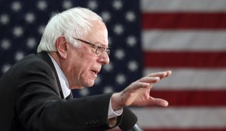 Democratic presidential candidate, Sen. Bernie Sanders, I-Vt., speaks during a campaign stop, Monday, Jan. 4, 2016, in Manchester, N.H. (AP Photo/Mary Schwalm)
