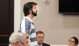 Former North Charleston Police Officer Michael Slager speaks during a hearing in front of Judge Clifton Newman in Charleston, S.C., Monday, Jan. 4, 2016. The state judge approved bail Monday for a former South Carolina police officer charged with killing an unarmed black motorist. (Brad Nettles/The Post and Courier via AP, Pool)