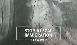 "Republican presidential front-runner Donald Trump released his first television ad of the campaign Monday, using footage from Morocco to promote the wall he plans to build ""on our southern border"" with Mexico."