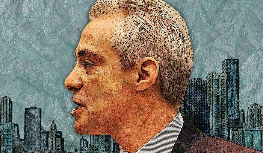 Rahm Emanuel Chicago Illustration by Greg Groesch/The Washington Times