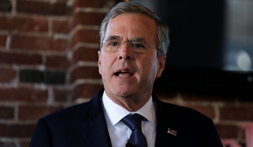 Republican presidential candidate Jeb Bush is aiming to be the last man standing in the anti-Trump camp, but some political strategists are skeptical. (Associated Press)