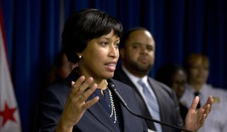 D.C. Mayor Muriel Bowser speaks during a news conference in Washington on Dec. 15, 2015. (Associated Press)