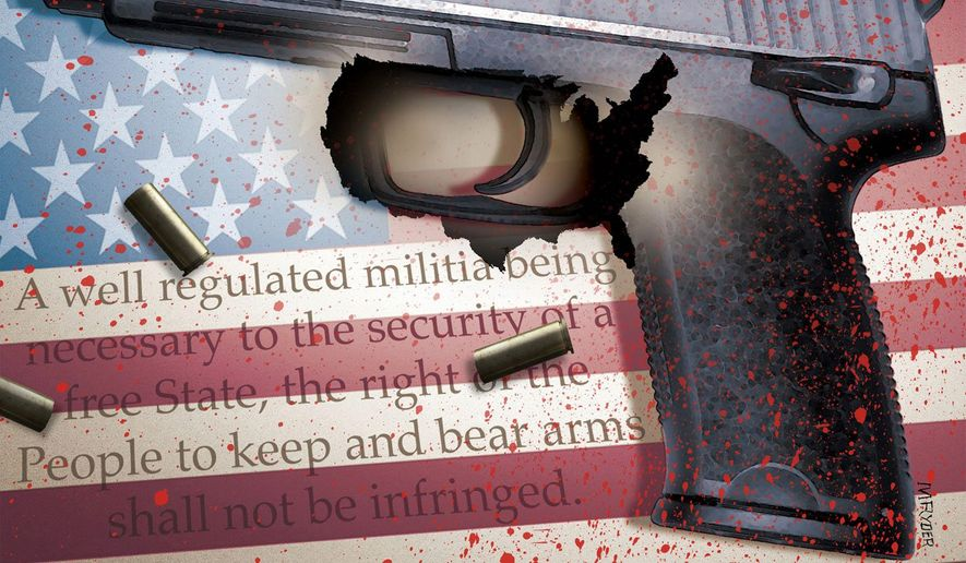 Illustration on the necessary difficulties of upholding the Second Amendment by M. Ryder/Tribune Content Agency