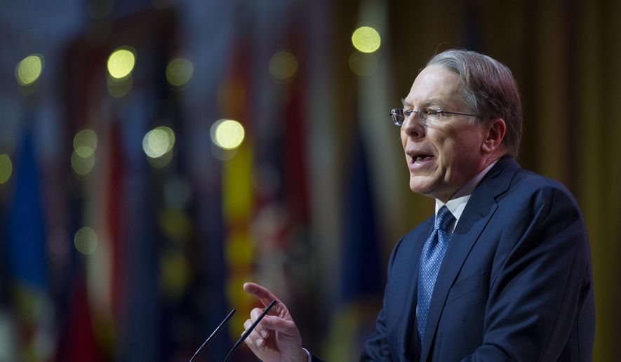Wayne LaPierre, executive vice president and CEO of the National Rifle Association. (Associated Press) ** FILE **