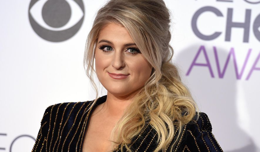 Meghan Trainor arrives at the People's Choice Awards at the Microsoft Theater on Wednesday, Jan. 6, 2016, in Los Angeles. (Photo by Jordan Strauss/Invision/AP)