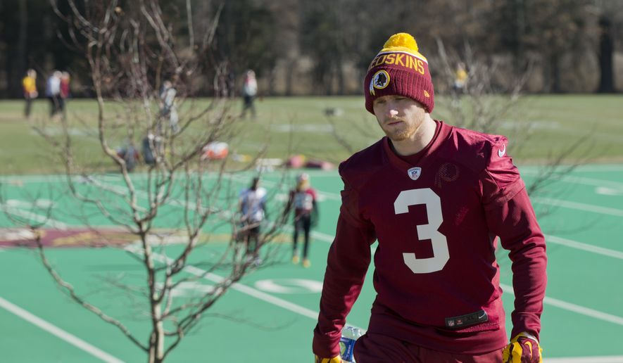 Washington Redskins kicker Dustin Hopkins was able to produce almost three times as many touchbacks as his predecessor.  (AP Photo/Manuel Balce Ceneta)