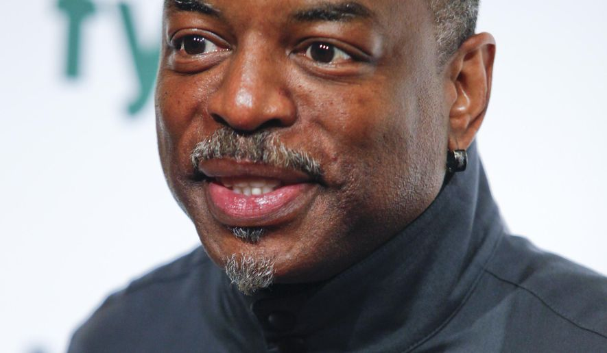 "FILE - In this April 30, 2015 file photo, LeVar Burton attends the A+E Networks 2015 Upfront at the Park Avenue Armory, in New York. Burton, who starred in the influential 1970s miniseries ""Roots,"" said the remake is arriving at a crucial time. ""As far as we have come in the area of race relations and the topics of social justice, fairness and equality, we still have a long way to go,"" he told a TV critics' gathering Wednesday, Jan. 6, 2016. (Photo by Andy Kropa/Invision/AP, File)"