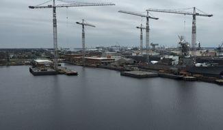 The Norfolk shipyards harbor.  (Eric Althoff)