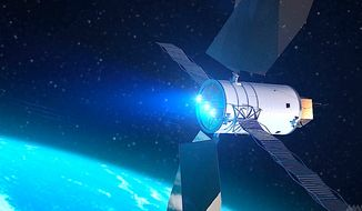 A solar powered guardian device under development at NASA is meant to push a threatening asteroid off course, and away from Earth.  It is part of a new planetary defense effort by the federal space agency against threats from asteroids, comets and other inbound objects.  (Image from NASA)