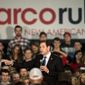 Republican presidential candidate, Sen. Marco Rubio, R-Fla., speaks to supporters during a rally in Raleigh, N.C., Saturday, Jan. 9, 2016. (AP Photo/Ben McKeown)