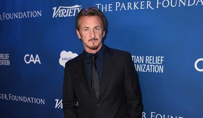 Sean Penn arrives at the 5th Annual Sean Penn & Friends HELP HAITI HOME Gala Benefiting at the Montage Hotel on Saturday, Jan.  9, 2016, in Beverly Hills, Calif. (Photo by Jordan Strauss/Invision/AP)