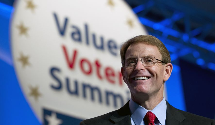 FRCAction and Family Research Council President Tony Perkins, speaks during the Values Voter Summit, held by the Family Research Council Action, Friday, Oct. 11, 2013, in Washington. ( AP Photo/Jose Luis Magana) ** FILE **