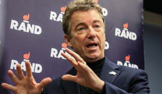 Rand Paul won't be on the main stage for Thursday night's Republican debate. (Associated Press)