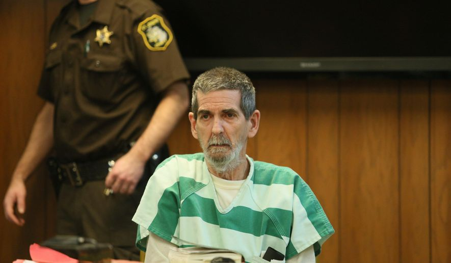 Daniel Furlong sits in court in Kalmazoo, Mich., Monday, Jan. 11, 2016, during his sentencing hearing in the killing of 11-year-old Jodi Parrack in 2007. Furlong pleaded guilty to second-degree murder in the death of Jodi Parrack. Her body was found Nov. 8, 2007, in Constantine Township Cemetery.  (Mark Bugnaski/Kalamazoo Gazette viab AP)