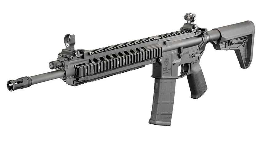 RUGER SR-556 TAKEDOWN (Updates)-Ruger quietly updated the SR-556 Takedown rifle during Christmas week. The main, and perhaps only, change to the gun was the replacement of the heavy quad-rail hand guard with a lighter KeyMod type. The quad-rail equipped rifletipped the scalesat 7.6 pounds, while the new one shaves off a a full half-pound to drop the rifle's weight toonly 7.1.