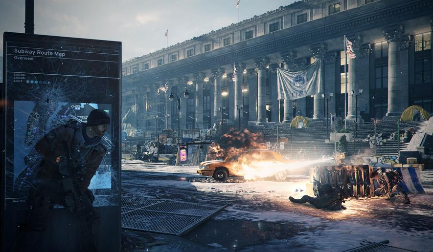 "This image provided by Ubisoft shows street combat in the video game, ""Tom Clancy's The Division."" (Ubisoft via AP)"