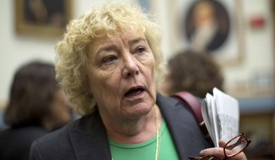 Rep. Zoe Lofgren, D-Calif., talks to reporters on Capitol Hill in Washington.(AP Photo/Carolyn Kaster, File)
