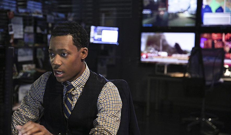 """This 2015 photo provided by CBS shows, Tyler James Williams as Russ """"Monty"""" Montgomery, in a scene from the TV series, """"Criminal Minds: Beyond Borders,"""" which premieres Wednesday, March 2, 2016, (10:00-11:00 PM, ET/PT) on the CBS Television Network. (Richard Cartwright/CBS via AP)"""